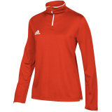 Adidas Women's Iconic 1/4 Zip Orange