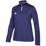 Adidas Women's Iconic 1/4 Zip Purple