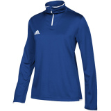 Adidas Women's Iconic 1/4 Zip Royal