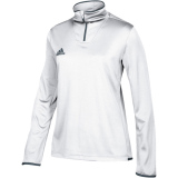 Adidas Women's Iconic 1/4 Zip White