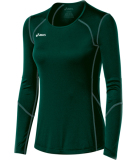 ASICS Women's Volleycross Long Sleeve Jersey Forest