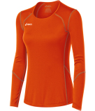 ASICS Women's Volleycross Long Sleeve Jersey Orange