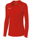 ASICS Women's Volleycross Long Sleeve Jersey Red