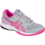 ASICS Women's Gel-Rocket 8 - Grey/Pink Grey/Pink