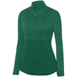 Augusta Women's Shadow 1/4 Zip Pullover Dark Green