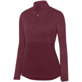 Augusta Women's Shadow 1/4 Zip Pullover Maroon