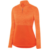 Augusta Women's Shadow 1/4 Zip Pullover Orange