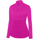 Augusta Women's Shadow 1/4 Zip Pullover Power Pink