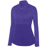 Augusta Women's Shadow 1/4 Zip Pullover Purple
