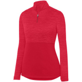 Augusta Women's Shadow 1/4 Zip Pullover Red