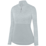 Augusta Women's Shadow 1/4 Zip Pullover Silver