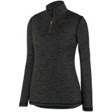 Augusta Women's Intensify 1/4 Zip Pullover Black
