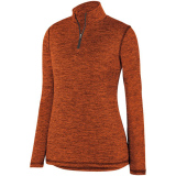 Augusta Women's Intensify 1/4 Zip Pullover Orange