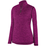 Augusta Women's Intensify 1/4 Zip Pullover Power Pink