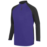 Augusta Men's Record Setter 1/4 Zip Purple/Slate