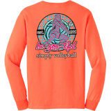 BE-YOU-TIFUL Volleyball Long Sleeve T-Shirt