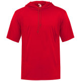 Badger Men's Core Short Sleeve Hood Tee Red
