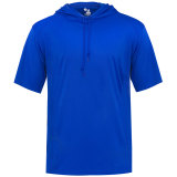Badger Men's Core Short Sleeve Hood Tee Royal