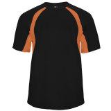 Badger Men's Hook Short Sleeve Jersey Black/Burnt Orange