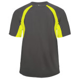Badger Men's Hook Short Sleeve Jersey Graphite/Safety Yellow