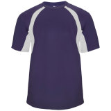Badger Men's Hook Short Sleeve Jersey Purple/White