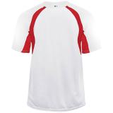 Badger Men's Hook Short Sleeve Jersey White/Red
