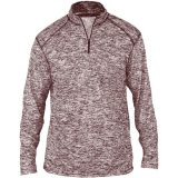Badger Men's Blend 1/4 Zip Maroon