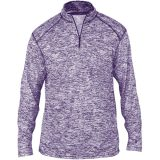Badger Men's Blend 1/4 Zip Purple