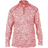 Badger Men's Blend 1/4 Zip Red