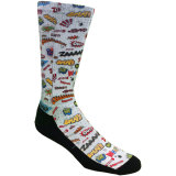 Comics Sublimated Crew Socks