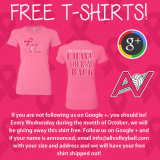 PINK PRIDE: Google+ and Free T-Shirts