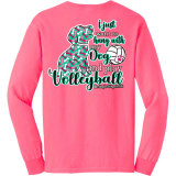 Hanging With My Dog Volleyball Long Sleeve T-Shirt