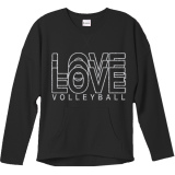 Love Volleyball Glitter Crew Sweatshirt Black