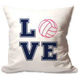 Love Volleyball Throw Pillow