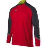 Mizuno Men's Elite 1/2 Zip Pullover Red