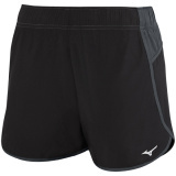 Mizuno Women's Atlanta Cover Up Short - 3.5 Inseam Black/Charcoal