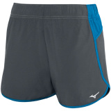 Mizuno Women's Atlanta Cover Up Short - 3.5 Inseam Charcoal/Diva Blue