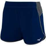 Mizuno Women's Atlanta Cover Up Short - 3.5 Inseam Navy/Charcoal
