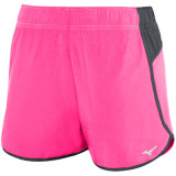 Mizuno Women's Atlanta Cover Up Short - 3.5 Inseam Shocking Pink/Charcoal
