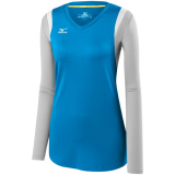 Mizuno Women's Balboa 5.0 Long Sleeve Jersey Diva Blue/Grey/White