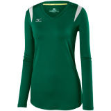 Mizuno Women's Balboa 5.0 Long Sleeve Jersey Forest/Forest/Silver