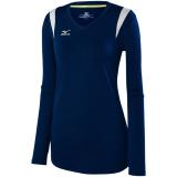 Mizuno Women's Balboa 5.0 Long Sleeve Jersey Navy/Navy/Silver