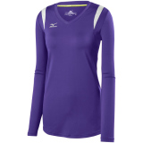 Mizuno Women's Balboa 5.0 Long Sleeve Jersey Purple/Purple/Silver