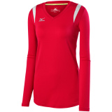 Mizuno Women's Balboa 5.0 Long Sleeve Jersey Red/Red/Silver