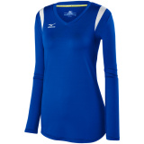 Mizuno Women's Balboa 5.0 Long Sleeve Jersey Royal/Royal/Silver