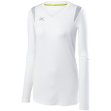 Mizuno Women's Balboa 5.0 Long Sleeve Jersey White/White/Silver