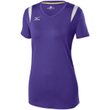 Mizuno Women's Balboa 5.0 Short Sleeve Jersey Purple
