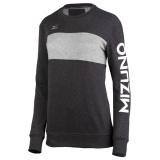 Mizuno Women's Retro Crew Sweatshirt Charcoal