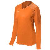 Mizuno Women's Techno Volley VI Long Sleeve Jersey Orange