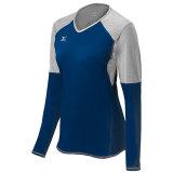 Mizuno Women's Techno Volley VI Long Sleeve Jersey Navy/Silver